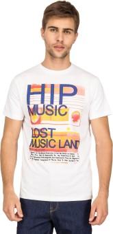 Blue Saint Graphic Print Men's Round Neck T-Shirt