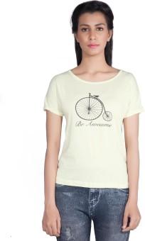 Shyle Printed Women's Round Neck T-Shirt - TSHEBGHFEMW6HBCG