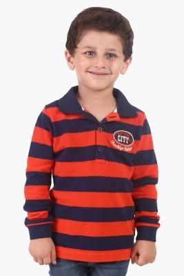 Beebay Striped Boy's Polo Neck T-Shirt