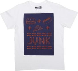Flying Machine Graphic Print Boy's Round Neck White T-Shirt