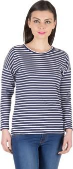 Hypernation Striped Women's Round Neck T-Shirt - TSHE4JY4EFDMTJTF