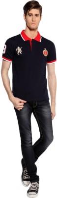 RCB Solid Men,s, Women's Flap Collar Neck T-Shirt