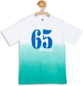 612 League Printed Boy's Round Neck White T-Shirt