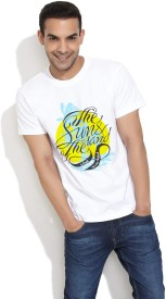 Stitche Printed Men's Round Neck T-Shirt