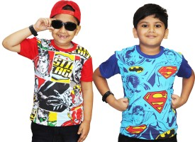 ETeenz Graphic Print Boy's Round Neck Reversible Multicolor T-Shirt Pack Of 2
