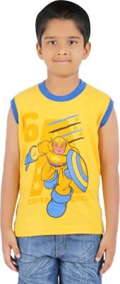 Harsha Avatar Graphic Print Boy's Round Neck T-Shirt