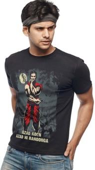 Wear Your Opinion Graphic Print Men's Round Neck Black T-Shirt