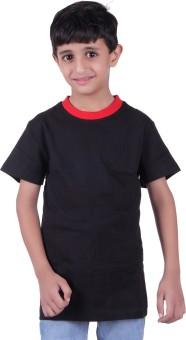 Austin Wood Solid Boy's Round Neck T-Shirt
