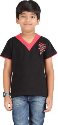 Libra Fashions Printed Boy's V-neck T-Shirt
