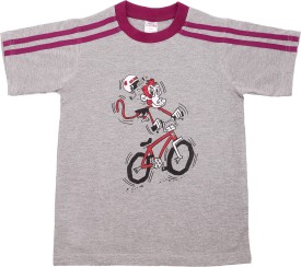 Hillman Printed Boy's Round Neck Grey T-Shirt