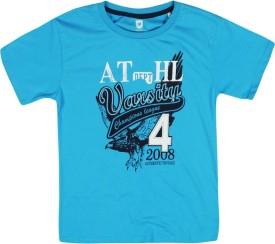 612 League Printed Boy's Round Neck Blue T-Shirt