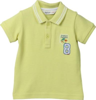 Beebay Self Design Boy's Polo Neck T-Shirt