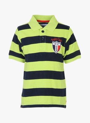 612 League Striped Boy's Polo Neck T-Shirt