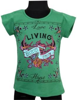 Tales & Stories Graphic Print Girl's Round Neck T-Shirt - TSHE2GUMWXVCGCGU