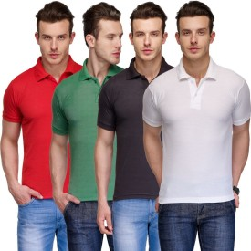 TSX Solid Men's Polo Neck Multicolor T-Shirt