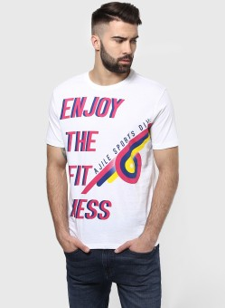 Ajile By Pantaloons Printed Men's Round Neck T-Shirt - TSHE88HQYCRGWHRN