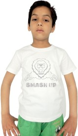 Trendster Printed Baby Boy's Round Neck White T-Shirt