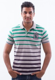Punjabi Heritage Striped Men's Polo T-Shirt