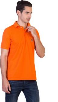 Green Wich United Polo Club Solid Men's Polo Neck Orange T-Shirt