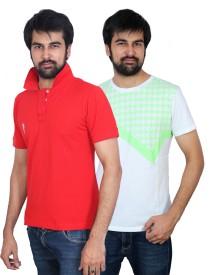 The Casanova Solid Men's Polo Neck Multicolor T-Shirt
