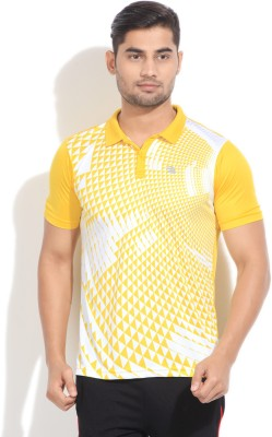 Edge Edge Printed Men's Polo T-Shirt (Yellow)
