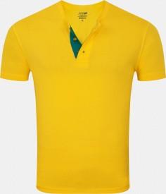 Zovi Solid Men's Henley T-Shirt