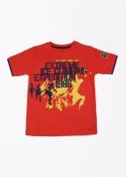 Joshua Tree Printed Boy's Round Neck T-Shirt - TSHDZB94TDRHHWFG