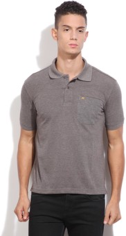 Fort Collins Solid Men's Polo Brown T-Shirt