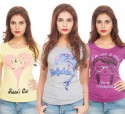 TSG Breeze Printed Women's Round Neck T-Shirt - Pack Of 3