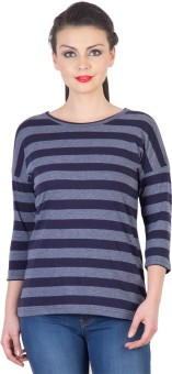 Hypernation Striped Women's Round Neck T-Shirt