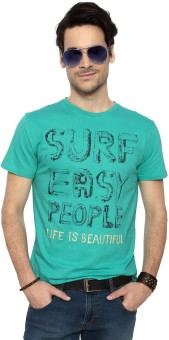 People Printed Men's Round Neck T-Shirt