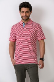 ALX New York Striped Men's Polo T-Shirt