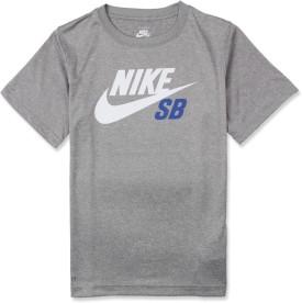 Nike Kids Graphic Print Boy's Round Neck T-Shirt