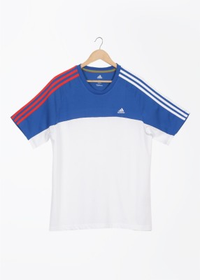 Adidas Adidas Solid Men's Round Neck T-Shirt (White)