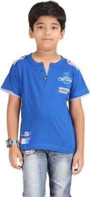 Libra Fashions Printed Boy's Henley T-Shirt
