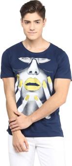 Yepme Graphic Print Men's Scoop Neck Blue T-Shirt