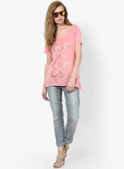 Vero Moda Graphic Print Women's Round Neck T-Shirt - TSHEFE4QP4PGNSHV