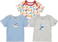 Baby Pure Solid Baby Boy's Round Neck T-Shirt (Pack Of 3)