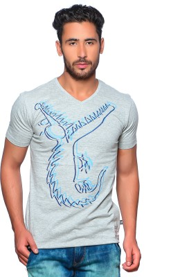Nucode Graphic Print Men's V-neck T-Shirt