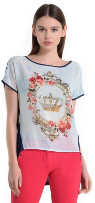 Kazo Printed Women,s Boat Neck T-Shirt