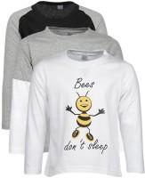 Gkidz Printed Boy's Round Neck T-Shirt - Pack Of 3