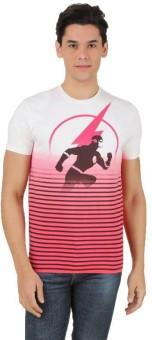 DC Comics Printed Men's Round Neck White, Red T-Shirt