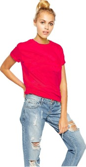 Young Trendz Solid Women's Round Neck T-Shirt