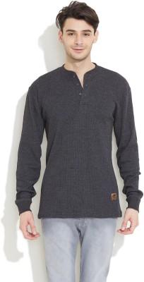 Skechers Solid Men,s Henley T-Shirt