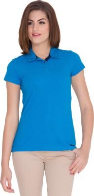 Identiti Solid Women's Polo Neck T-Shirt