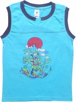 Bio Kid Graphic Print Boy's Round Neck Reversible T-Shirt