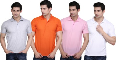 Highflier Solid Men,s Polo Neck T-Shirt