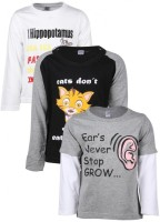 Gkidz Printed Boy's Round Neck T-Shirt - Pack Of 3 - TSHDZNZJKHYDAVMT