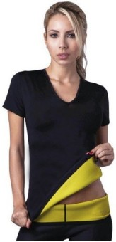 Hot Shapers Solid Women's, Girl's Round Neck Black T-Shirt
