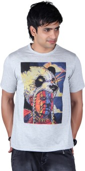 Lluminati Graphic Print Men's Round Neck T-Shirt